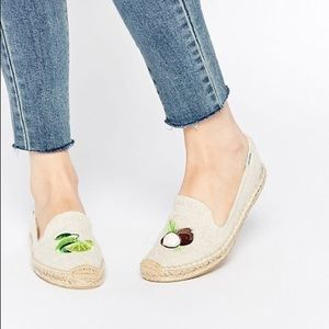 Soludos lime and coconut espadrilles